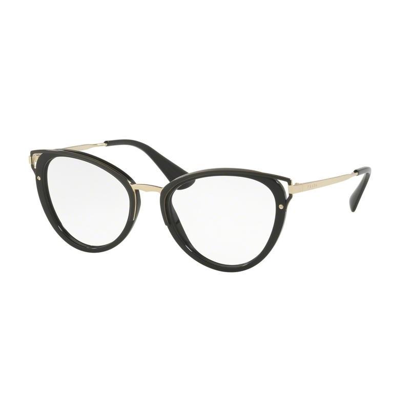 Prada PR 53UV 1AB1O1   Óculos de Prescrição d02a55869d